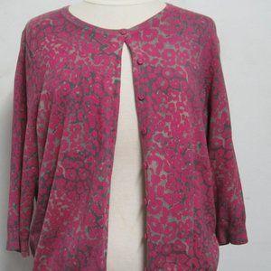 Marisa Christina Woman 1x pink leopard cardigan